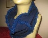 cashmere neckwarmer cowl navy blue