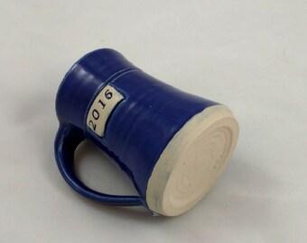 2016 Mug Cobalt Blue Pottery Handmade by Daisy Friesen
