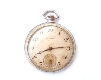 25% SALE OFF RARE Antique Swiss pocket watch Marino