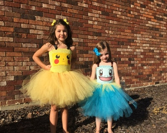 pokemon pikachu tutu dress costume inspired halloween costume or birthday dress birthday parties or