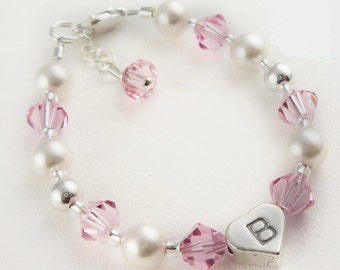 Flower Girl Bracelet- perfect gift for your flower girls! Personalized