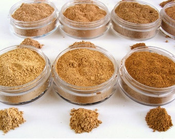 Mineral Foundation, Mineral Makeup Foundation, Natural Cosmetics, Natural Makeup, Gift for Her, Teen Gift, Foundation Sample