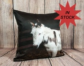 Donkey Cushion Case Made in Canada, Farm Animal Pillow Cover for Modern Farmhouse Decor, Rustic Pillow Cover Gift for Farmer Ready To Ship