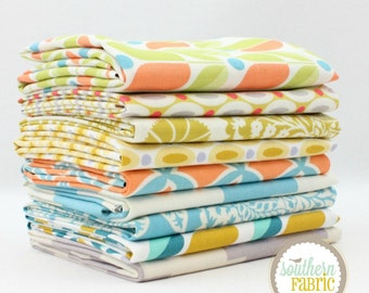"Flora - Fat Quarter  Bundle - 9 - 18""x21"" Cuts - Joel Dewberry - Free Spirit Quilt Fabric"