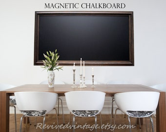 """EXTRA LARGE MAGNETIC Chalkboard For Sale Oil Rubbed Bronze Rustic Home Office Decor Magnetic Chalkboard """"53x29"""" Wood Framed Old World Style"""