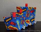 READY TO SHIP Superhero Reusable Snack Bags - Set of 3