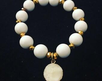 Golden Day Druzy Bracelet