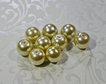 Bronze Glass Pearls, 10mm - #1214