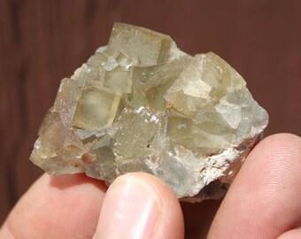 Lovely Yellow Fluorite Crystal Cluster Specimen