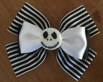 Disney Inspired Jack Skellington (The Nightmare Before Christmas) Hair Bow
