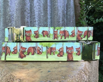 Bears in the Woods Spring Cheery Cute Dog Collars