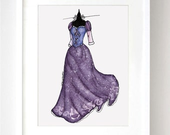 Rapunzel  Disney Watercolor - Fine Art Sketch Print