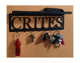 Custom Name Key Rack with Shelf