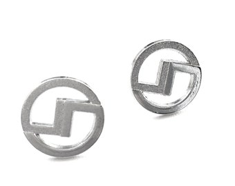FLASH Studs in Silver. FAST Shipping w/ Tracking for US Buyers. Will arrive in a Gift Box & Tied w/ a Ribbon. Ready for Gift Giving.