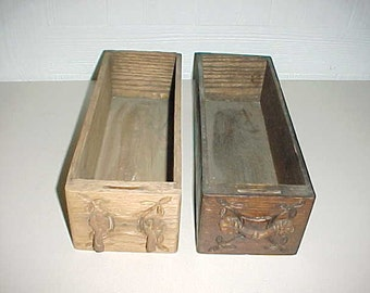 2 Vintage Oak Drawers From Treadle Sewing Machine