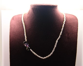 1pcs(jen-0200) - handmade necklace with natural fresh water pearl