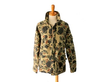 Vintage 80s Camouflage Army Jacket // Men Medium Regular // Punk Grunge Halloween