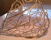 Large Open Scrollwork Gold Wire Heart