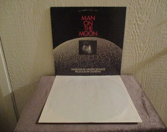 Man on the Moon - Movie Sound Track - Walter Cronkite - Vintage album in Excellent Plus Condition