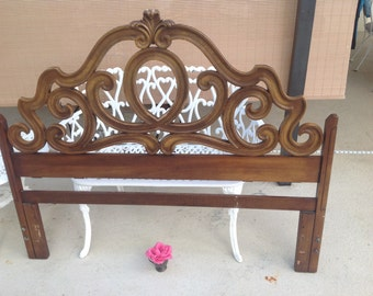 BAROQUE ROCOCO QUEEN Headboard / Hollywood Regency Queen Headboard / Ornate Scroll Headboard Paris Apt Style at Retro Daisy Girl