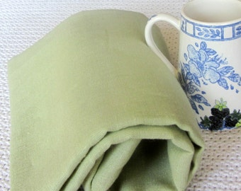 Pure linen CELERY Green ecofriendly fabric home decor crafts sewing supplies from MyGypsyCottage on Etsy
