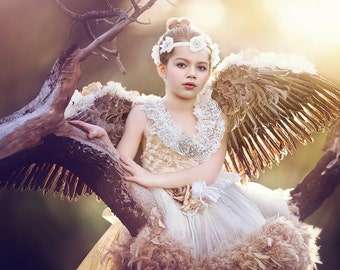 Large Mocking Bird Feather Wings. Photo Prop, Costume, Dress Up