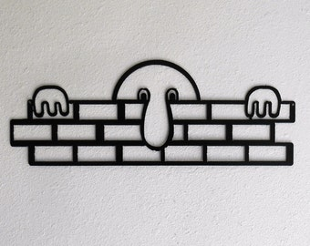 Kilroy was here / WWII / Metal art / wall decor / Humor