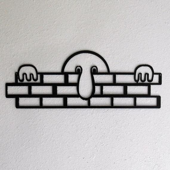 Kilroy was here / WWII / Metal art / wall decor / Humor