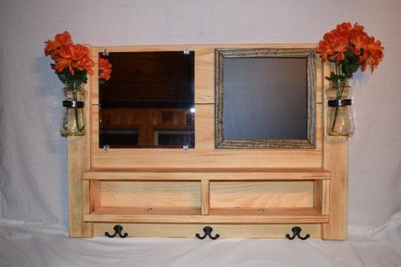 Foyer Mirror Jewelry : Entryway organizer mail mirror coat rack whiteboard