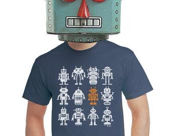 robot t-shirt, geeky robot t-shirt, mens robot t-shirt, vintage toy, retro robot toy, toy robot, robot fans, for gamers, geeky gift, s-4xl
