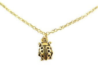 Little Ladybug Bracelet - Anklet - Choker - Necklace - You Choose