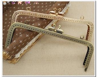 8 inch(20.5cm)  sewing metal purse frame bag frame handbag frame purse frame supply with swan beads ( 2 color )