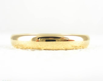 Art Deco 22 Carat Gold Wedding Ring. Court / Comfort Fit Yellow Gold Wedding Band, Hallmarked Chester 1930s. Size N / 6.75.
