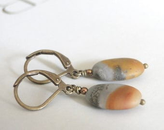 Gemstone Earrings / Jewelry / Earrings / Earthy Earrings / Autumn Accessories / Gift for Her / Agate Earrings / Stocking Stuffer