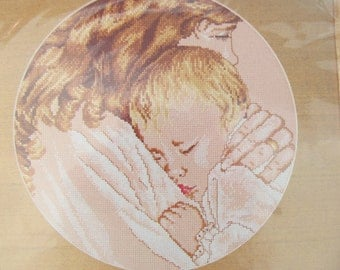 Cross Stitch Kit Mother and Child Design Works Picture Never Opened Sleeping Baby