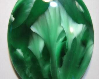 Premium Green VICTORIA STONE Chatoyant  cab ....   38 x 29 x 6 mm ....    B3374