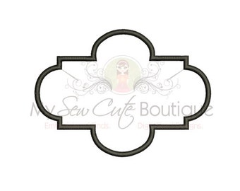 Applique frame Machine Embroidery Design - 10 Sizes - Instant Download