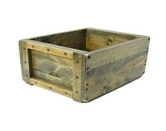 Dog Toy Box , Wooden Box, Wood Crate, Wooden Bin, Magazine Holder, Keepsake Box, Memory Box, Towel Holder, Custom Engraving Available