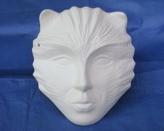 You Paint it ~ Cat Face Mask Ceramics Poured by CrazyOldLadyJC