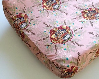 Changing Pad Cover - INDIE Nursery Bedding / BOHO Baby Bedding / Contoured Changing Pad Cover / Diaper Pad Cover