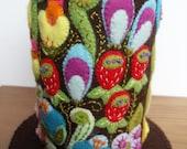Colourful Floral Felt Pincushion