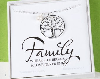 Family Tree charm Necklace,Mother's day gift,Gift for mother,Mother of the groom gift, mother in law gift, gift from bride to mom