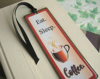 Bookmark for Coffee Lovers Coffee Bookmark Laminated