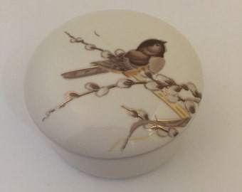 Bird Trinket Jewelry Box by Otagiri made in Japan