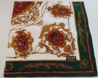 The  Authentic Celine Classic Handkerchief.70s.