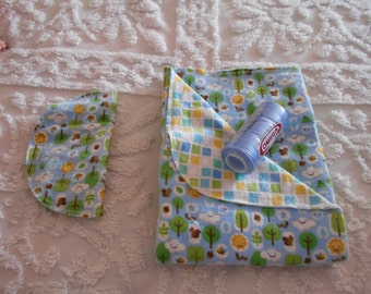 Baby Boy Sunshine - Receiving Blanket and Burp Cloth