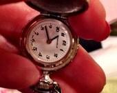 Caravelle vintage ladies pocket pendant watch silver