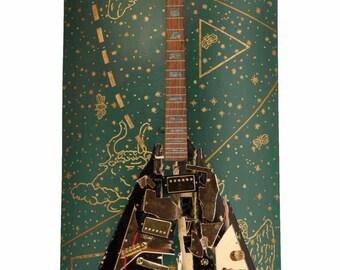 Cosmos Guitar Sculpture