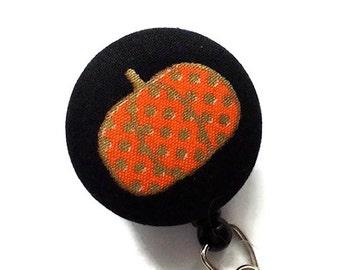 Fall Pumpkin Badge Reel/Retractable Badge Holder/Nurse Badge Holder/ID Badge Holder/Name Badge Reel/Badge Reel/Id Holder/Key Card Holder