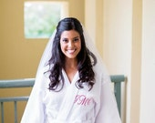Men and Womans Robe Set Monogrammed embroidered Spa Robes Personalized front and back embroidery included